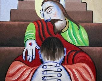 in Jesus Name God Savior Love Print Anthony Falbo