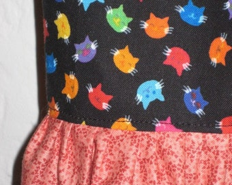 Toddler Kitty Kat Polka dot Ruffle Pants and Top outfit, size 18M, Ready to Ship