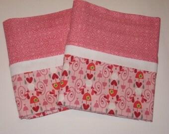 Pink Damask Rainy Day Pillowcases