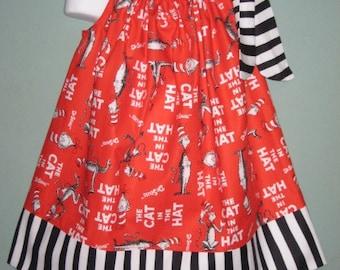 Red Cat in the Hat Custom Pillowcase Dress