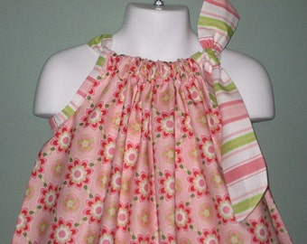 Sugar and Spice in Pink Pillowcase Dress,  SIZE 3, Ready to ship