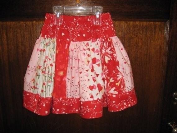 Valentine Cherie Strip Twirl Skirt in Size 5, LAST ONE