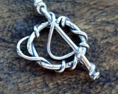 Twisted Toggle Artisan Handmade Sterling  /T166