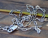 "Necklace 24"" Drawn Cable Necklace Sterling"