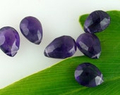 Amethyst Faceted Large Drops