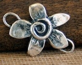 Flower with Swirl Link Handcrafted