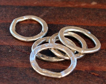 LINKS Five Thin Small Round Sterling Silver Artisan 005/LL151