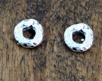 Spacers dimpled Sterling Silver Round Spacers 002/SL85
