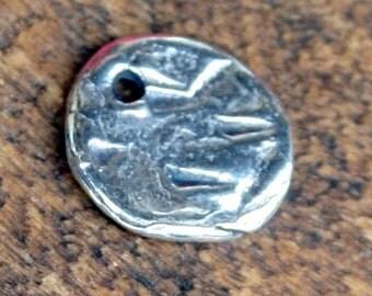 Simple Round Rustic Disc CharmCHD88
