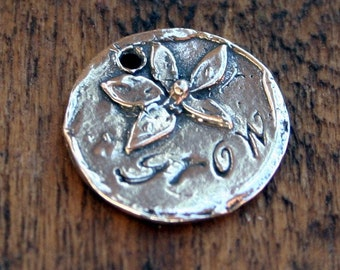 Flower Charm Sterling Grow Charm /WC23