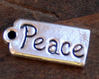 Sterling silver Peace Tag /CHT12