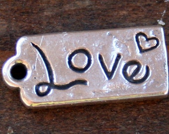 Love Tag Charm Sterling Silver /CHT13