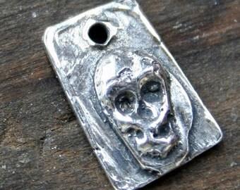 Skull Charm Sterling Silver /CH1406