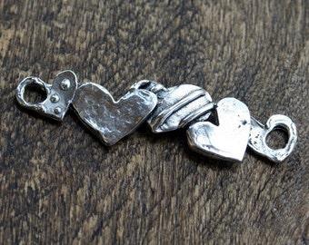 Link Heart Sterling Silver Artisan
