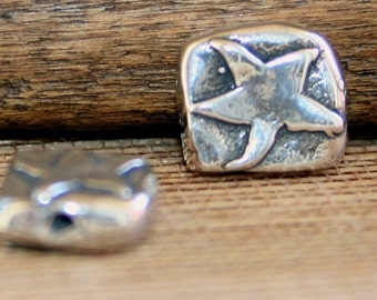 Bead Star Square Sterling Silver 001/B103