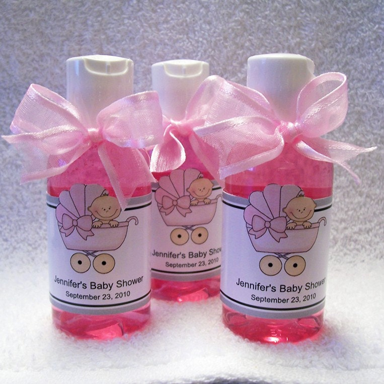 bubble bath baby shower favors set of 10 with personalized