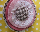 RESERVED FOR CHELSEA Houndstooth Posie Accessory