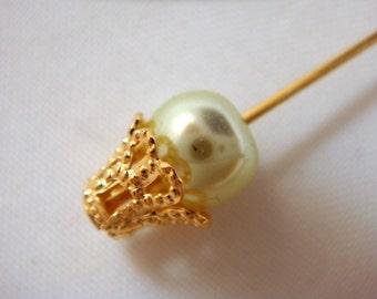 25 Basket Bead Caps Gold Plated Brass Filigree 7 to 9mm Beadcap - 25 pc - 1117-10