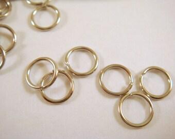 100 - 6mm Nickel Jump Ring Open 20 Gauge 6mm Outside - 100 pc - F4003JR-N6mm100