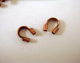 50 Antique Copper Wire Guard Protector 4x3mm - 50 pc - F4096WG-AC50