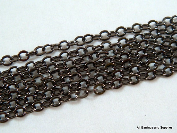 5ft Soldered Chain Black Cross Chain Brass Gunmetal 2.5x2mm - 5 feet - STR9011CH-B5