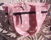 CLEARANCE-Pink Polka Dot Diaper Bag