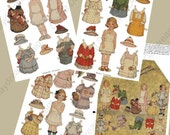 Instant Download Digital Frances Brundage Printable Paper Doll Kit Instant Download