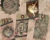 Instant Download Digital Printable Collage Sheet Gift Tag Set - Beautiful Ballerina