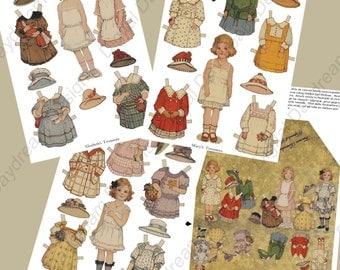 Instant Download Digital Frances Brundage Printable Paper Doll Kit Instant Download