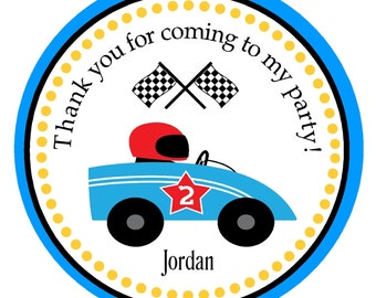 Race Cars Birthday Party Tags/ Racecar Birthday Favors/ Decorations/Set of 12