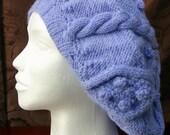 Mauve Cable Knit Hat