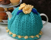 4-6 cup Turquoise, Yellow & Blue Teapot Cosy