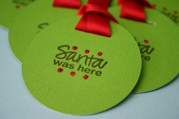 Items similar to 10 Secret Santa Gift Tags on Etsy