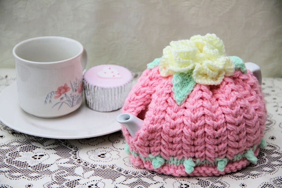 1-3 Cup Pink, Lemon and Mint Green Teapot Cozy
