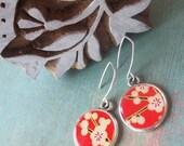 Japan earthquake relief    Japanese Garden earrings in Sterling Silver
