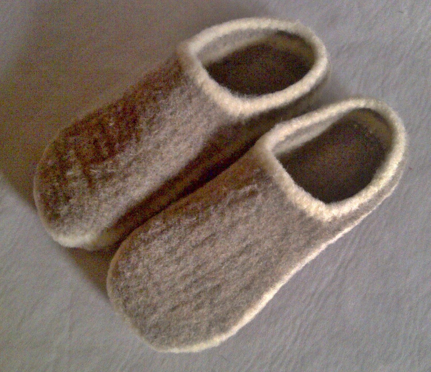 zoom. Wool Slippers Free Shipping wool shoes custom order oatmeal