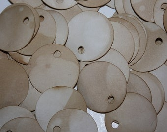 """Price Tag set of 100 Round Circle 2 1/4"""" Tea Stained Product Tags"""