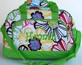 Girls Personalized Duffle Bag Flowers Dance Gym Ballet Cheer Luggage
