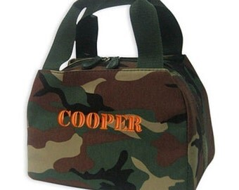 Personalized Lunch Bag Camouflage Insulated Monogrammed Tote Camo