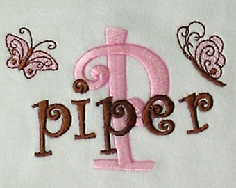 Baby Personalized Gown Beanie Hat Butterfly Newborn Infant Sleeper Sack Monogrammed