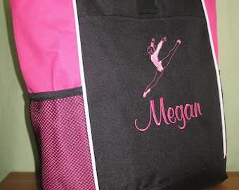 Girls Personalized Tote Bag Gymnastics Monogrammed Dance Bag