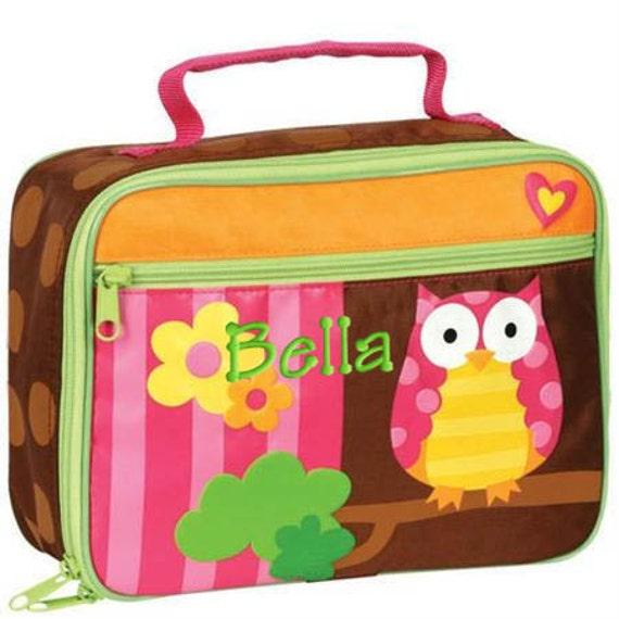 Children Personalized Lunch Bag Owl Stephen Joseph Children