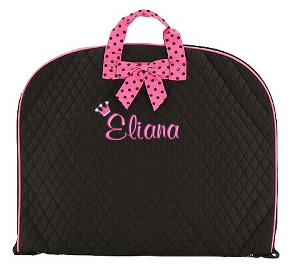 Personalized Garment Bag Dance Pageant Gym Black Hot By