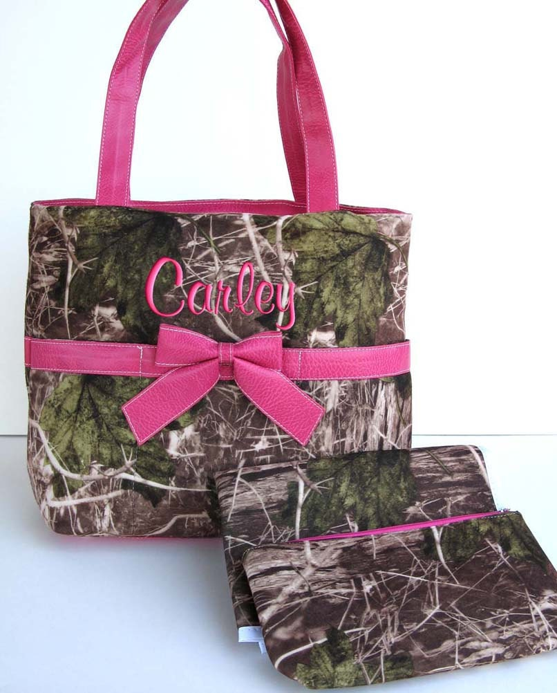 diaper bag personalized camouflage camo real tree pink by parsik93. Black Bedroom Furniture Sets. Home Design Ideas