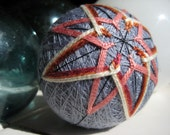 Violet and Orange Temari Ball