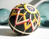 Yellow Star Evergreen Temari Ball