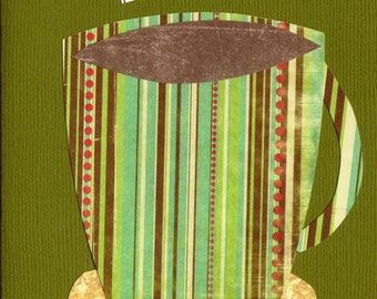Patterned Coffee Cup Cards 1 - Set of Four
