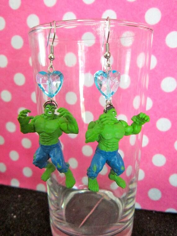 Incredible Hulk Figurine Earrings