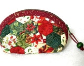Mini Mini Jewelry Purse-Red Christmas Hexagons