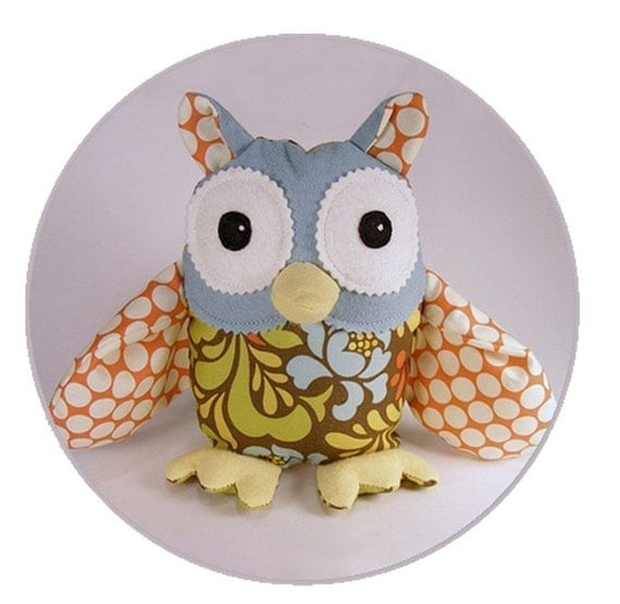 Owl Sewing Pattern Oliver Owl Instant Download Softie PDF epattern